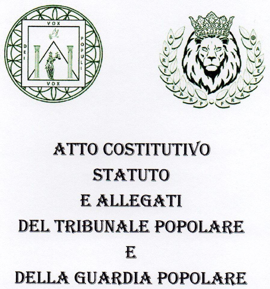 Costituzione degli Istituti del Tribunale Popolare e della Guardia Popolare.